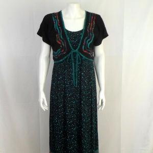 Carole Little Multicolor Maxi Dress sz 6 D2